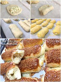 Peynirli Açma Tadında Poğaça Tarifi Turkish Kitchen, Bread And Pastries, Sin Gluten, Bread Baking, Doughnut, French Toast, Food And Drink, Breakfast, Desserts