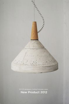 Concrete ceiling lamp