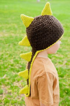 Crochet Dinosaur and Dragon Hat Pattern