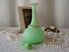 Vintage Perfume Bottle Art Deco Satin finish by CynthiasAttic