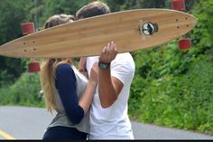 This but engagement pictures with his skateboard covering us kissing haha