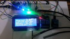 Picture of Arduino Thermostat with 2x DS18b20 i2c 4x16 Display, 2 RGB LED's and 3 Relay's