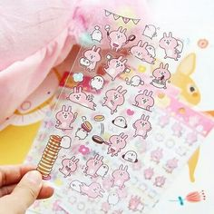 Be playful and make your crafty time fun with this cute bunny Usagi🐰 and bird Piske🐥. Use these adorable stickers in your planner, journal or notebook.🐇 Get them in our online store (clickable link in bio☝). Kawaii Pens, Kawaii Stickers, Cute Stickers, Kawaii Gifts, Craft Stickers, Kawaii Things, Japanese School Supplies, Cute School Supplies, Cute Desk