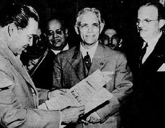 Batista (L) receives 1954 election certification in ceremony at his Kuquine Estate from Dr. Joaquín Ochotorena Roque (C), Superior Electoral Court President and other magistrates. (photo: El Nuevo Herald archive) For information about Cuban History of this period please visit Cuba 1952-1959