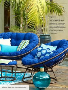 Double Papasan For Cozy Patio