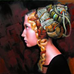 'A Young Lady In Waiting' by Andrius Kovelinas | Green Gallery