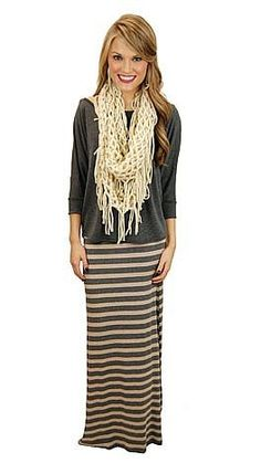 Can't Stripe Maxi Skirt  #shopbluedoor
