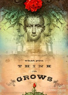 What You Think on Grows Digital Art by Silas Toball - What You Think on Grows Fine Art Prints and Posters for Sale