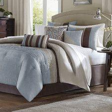 Tradewinds 7 Piece Comforter Set in Blue