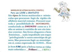 RITA'S MODELS OF LETTERS ___ Portuguese explain by JSeRITAFLOWER
