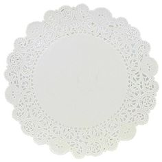 """6"""" White Grease Proof Doilies 