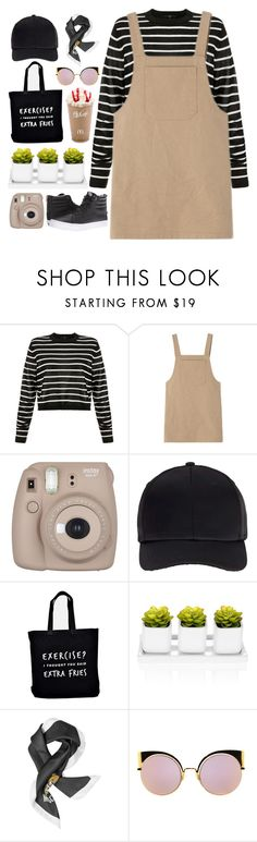 """Winter Getaway"" by sellyankumala ❤ liked on Polyvore featuring TIBI, Fujifilm, Miss Selfridge, Ellie Ellie, Moschino, Fendi, Vans, vacation, holiday and overall"