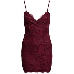 New Look Eyelash Lace Bodycon Dress ($31) ❤ liked on Polyvore featuring dresses, party dresses, womens-fashion, zinfandel, purple dress, purple cocktail dress, lace wrap dress, bodycon wrap dress and tall dresses