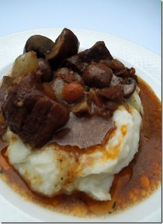 Beef Bourguignon in the crock pot - Miss Information