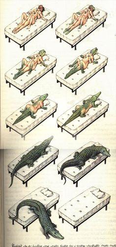 """""""Crocoitus"""" - motyw z fenomenalnego ćwiczenia wyobraźni i dla wyobraźni pod tytułem CODEX SERAPHINIANUS autorstwa Luigiego Serafiniego. Pół godziny dziennie z tymi ilustracjami to świetny estetyczno-intelektualny odpowiednik jogi."""