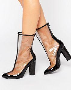 Chaussures à talon carré et bout pointu - BeigeTruffle QdbBEK7VU