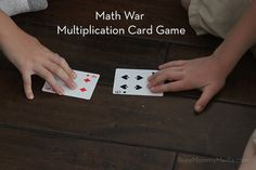 Math War Card Game t