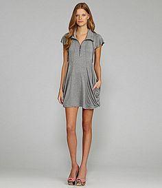 kensie French Terry Drape Pocket Dress #Dillards