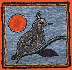 "Bird as dusk: Lewis Creed rag rug . See more works by Lewis Creed on my board ""Lewis Creed"""