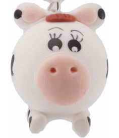 ► Este simpático dije en forma de una linda vaca está hecho de pasta francesa. Ideal para colgar en tu celular. #recuerdosparaxvanos