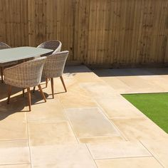 Sawn Mint Sandstone - Patio Stones - Paving Slabs - Nustone Sandstone Paving Slabs, Paving Stones, Outdoor Chairs, Outdoor Furniture Sets, Outdoor Decor, Small Outdoor Kitchens, Patio Kits, Garden Paving, Garden Design