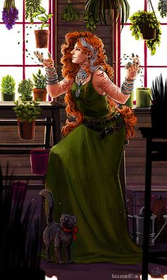 The Flower Witch - CM by Alassa.deviantart.com on @DeviantArt
