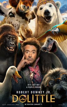 Robert Downey Jr electrifies one of literature's most enduring characters in a vivid reimagining of the classic tale of the man who could talk to animals Dolittle. In Cinemas 17 January Robert Downey Jr's. - Social News XYZ 2020 Movies, Hd Movies, Movies To Watch, Movies Online, Movie Tv, Cinema Movies, Movie Theater, Indie Movies, Action Movies