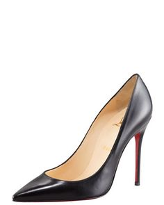 Christian Louboutin Decollete Calfskin Pointed-Toe Pump