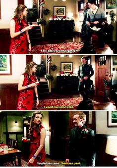 """""""Can I offer you some eggnog?"""" - Caitlin, Julian and Barry #TheFlash"""