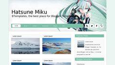 Hatsune Miku Blogger template » http://btemplates.com/10111