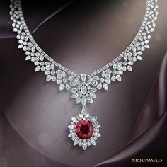 Mouawad Ruby and Diamond necklace