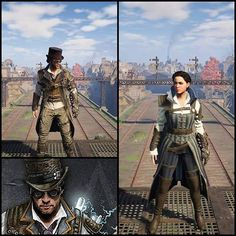 The twins, Evie Frye and Jacob Frye with their Steampunk Outfit. Assassins Creed Syndicate
