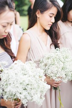 Baby's breath bridesmaid bouquets! Top 10 Floral Ideas to Make Your Wedding Bloom