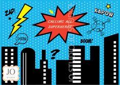 Superhero Sweet Table / Candy Buffet Printable Backdrop / Photobooth Backdrop - - BACKDROPS - Jo Studio - Party Printables and Custom Invitations
