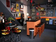Garage Bar With Harley Davidson Decor For Sport And Masculine Look Get Awesome Entertaining Spots
