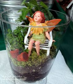 Fairy gardens can be made as indoor terrariums by Barb of Our Fairfield Home & Garden. Click through and see how easy it is to make!