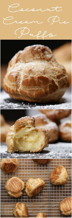 Coconut Cream Pie Puffs