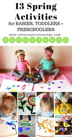 13 Toddler Activities For Spring