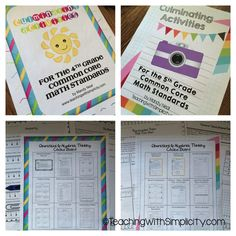 The Culminating Activities for the Fourth and Fifth Grade Common Core Standards are perfect for the end of the school year after testing, and also great for summer school. Keep your students engaged with enrichment and focus with a total of 50 Common Core Math Activities!