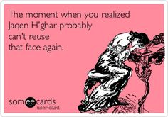 The moment when you realized Jaqen H'ghar probably can't reuse that face again. -Yes...sigh #got #gameofthrones