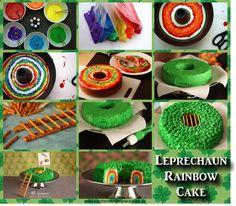 leprechaun trap cake-