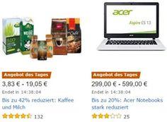 Amazon: Kaffee von Starbucks, Käfer & Melitta zu Schnäppchenpreisen https://www.discountfan.de/artikel/essen_und_trinken/amazon-kaffee-von-starbucks-kaefer-melitta-zu-schnaeppchenpreisen.php Für einen Tag sind bei Amazon Kaffee- und Milchprodukte mit Rabatt zu haben: Discountfans können sich beispielsweise das Kilopack Melitta-Bohnen ab 8,54 Euro sichern, Käfer-Kaffe gibt es ab 7,57 Euro, Starbucks-Bundles ab 8,94 Euro. Amazon: Kaffee von Starbucks, Käfer & Melitt