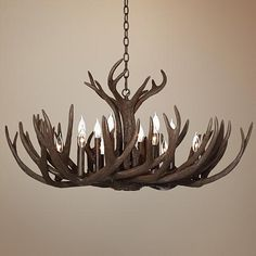 Big Sky Twelve Light Elk Antler Chandelier