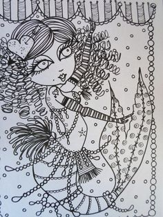 Burlesque Mermaids Coloring Book Unique fun art by ChubbyMermaid, $12.00