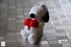 Snoopy in love Mothers Day Presents, Some Pictures, Needle Felting, Snoopy, Cute, Kawaii, Felting