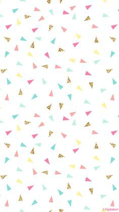 Pink mint turquoise gold mini triangle confetti iphone phone wallpaper background lockscreen pastel also giselle cazares Pastel Wallpaper, Tumblr Wallpaper, Screen Wallpaper, Confetti Wallpaper, Confetti Background, Gold Glitter Background, Triangle Background, Cute Backgrounds, Phone Backgrounds