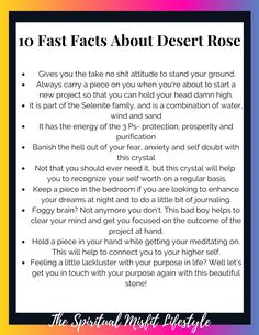 Desert Rose is the crystal that I don't think gets as much screen time as it deserves. So here are 10 fast facts about the ever unique and beautiful stone created from the elements. Learn how to use this crystal to give you courage and work with your intuition. Work with the healing and metaphysical properties of this stone to maximize your life!