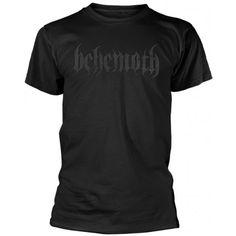 Tricou Behemoth: Logo (Black on Black) Metalhead, Logos, Mens Tops, T Shirt, Clothes, Black, Fashion, Supreme T Shirt, Outfits