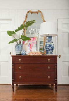 love this dresser - traditional chest modern styling