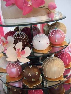 close up- big cake balls for the tiered stand.